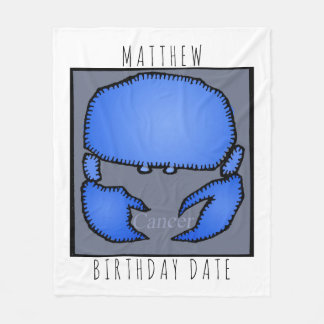 Zodiac Sign Cancer Personalized Birthday Blanket