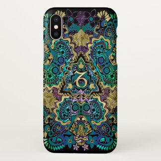 Zodiac Sign Capricorn Black Mandala iPhone X Case