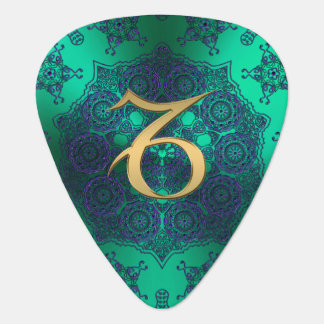 Zodiac Sign Capricorn Lace Mandala Guitar Pick