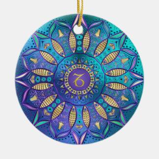 Zodiac Sign Capricorn Mandala Christmas Ornament