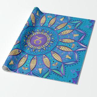 Zodiac Sign Capricorn Mandala Wrapping Paper