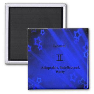 Zodiac Sign: Gemini 2 Inch Square Magnet