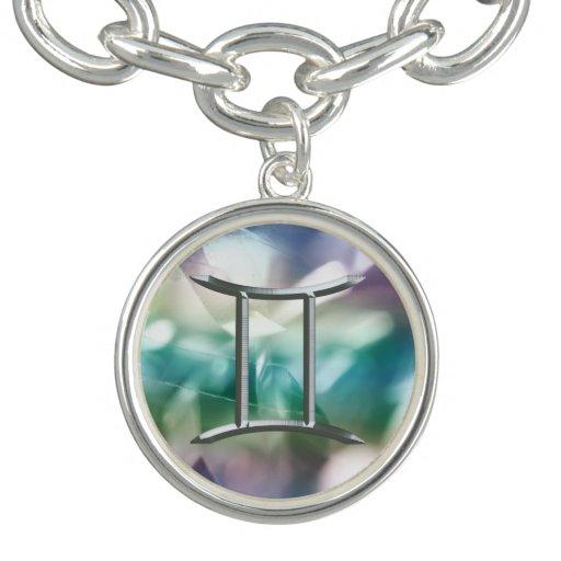 Zodiac Sign Gemini Astrology Charm and Bracelet