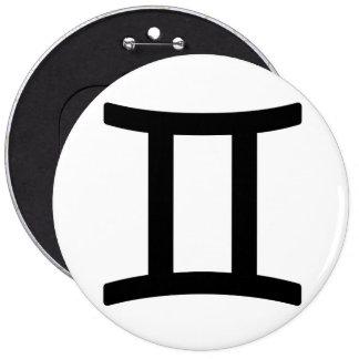 Zodiac sign Gemini Buttons