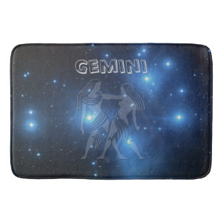 Zodiac sign Gemini Bath Mat