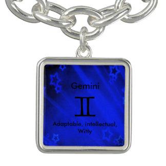 Zodiac Sign: Gemini Charm Bracelet