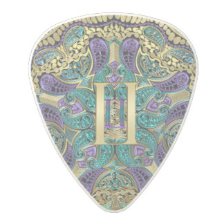 Zodiac Sign Gemini Mandala Polycarbonate Guitar Pick