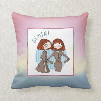 Zodiac Sign - Gemini - May 21 - June 20 Throw Cushions