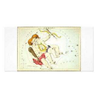 Zodiac Sign: Gemini Photo Card Template
