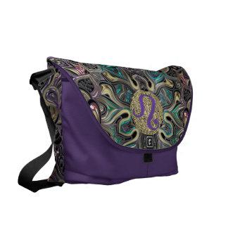 Zodiac Sign Leo Mandala Messenger Bag