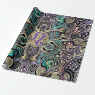 Zodiac Sign Leo Mandala Wrapping Paper