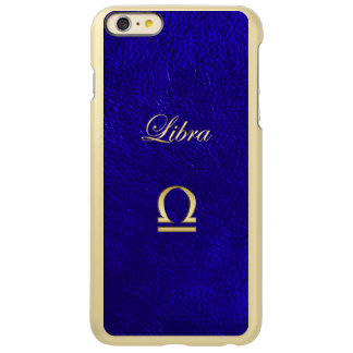 Zodiac Sign Libra Blue Leather Look