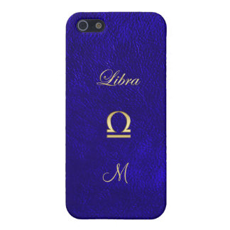 Zodiac Sign Libra Blue Leather Look iPhone 5 Covers
