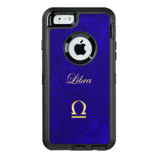 Zodiac Sign Libra Blue Leather Look OtterBox iPhone 6/6s Case