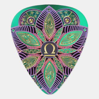 Zodiac Sign Libra Colorful Mandala Plectrum