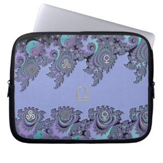 Zodiac Sign Libra Fractal Laptop Sleeve