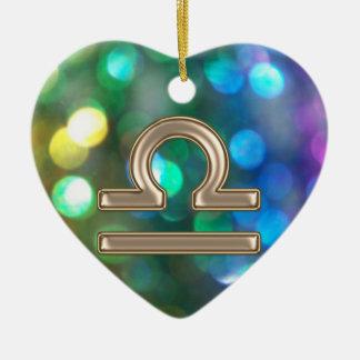Zodiac Sign Libra Rainbow Glitter Ornament