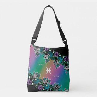 Zodiac Sign Pisces Rainbow Fractal Bag Tote Bag