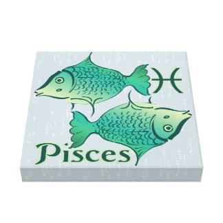 Zodiac Sign Pisces Symbol Canvas Prints