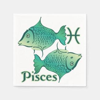 Zodiac Sign Pisces Symbol Paper Serviettes
