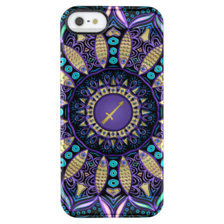 Zodiac Sign Sagittarius Mandala Clear iPhone SE/5/5s Case