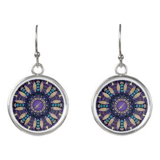 Zodiac Sign Sagittarius Mandala Earrings