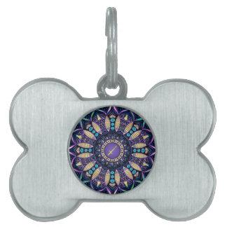 Zodiac Sign Sagittarius Mandala Pet Name Tag