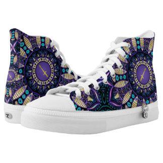 Zodiac Sign Sagittarius Mandala Printed Shoes