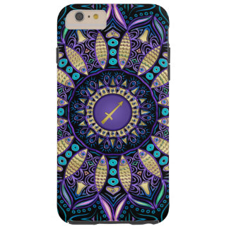 Zodiac Sign Sagittarius Mandala Tough iPhone 6 Plus Case