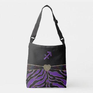 Zodiac Sign Sagittarius Purple Tiger Tote Bag