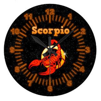 Zodiac sign Scorpio Large Clock
