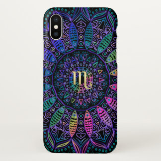 Zodiac Sign Scorpio Mandala iPhone X Case