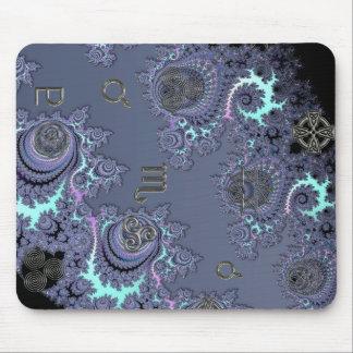 Zodiac Sign Scorpio Mystical Symbols Mousepads