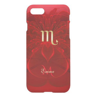 Zodiac Sign Scorpio Red Lace Fractal Monogram iPhone 8/7 Case