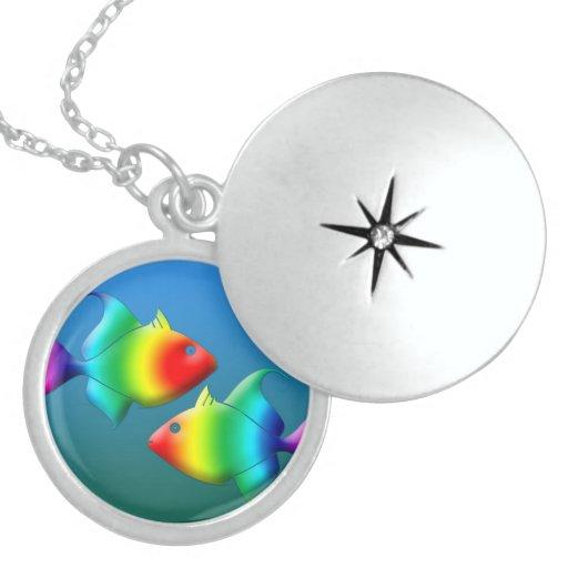 Zodiac Sign Silver Round Locket