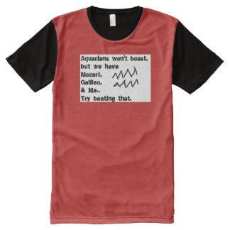 Zodiac sign T shirt: Aquarius All-Over Print T-Shirt