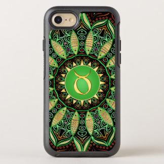 Zodiac Sign Taurus Mandala ~ Green Gold OtterBox Symmetry iPhone 7 Case