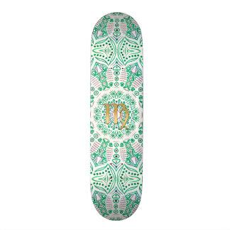 Zodiac Sign Virgo Green Mandala 20.6 Cm Skateboard Deck