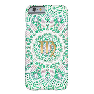 Zodiac Sign Virgo Green Mandala Barely There iPhone 6 Case
