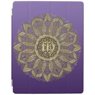 Zodiac Sign Virgo Mandala Earth Tones iPad Cover