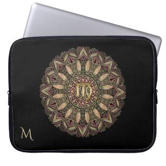 Zodiac Sign Virgo Mandala Earth Tones Laptop Sleeve