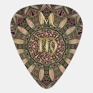 Zodiac Sign Virgo Mandala Earth Tones Plectrum