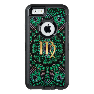Zodiac Sign Virgo Mandala OtterBox Defender iPhone Case