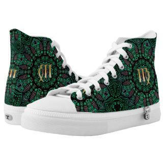 Zodiac Sign Virgo Mandala Printed Shoes