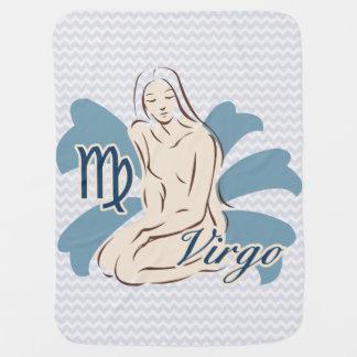 Zodiac Sign Virgo Symbol Receiving Blanket