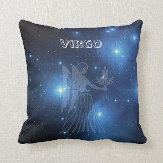 Zodiac sign Virgo Throw Pillow