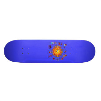 Zodiac-Signs-All-V-1 18.1 Cm Old School Skateboard Deck
