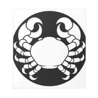 Zodiac Signs Cancer Crab Notepad