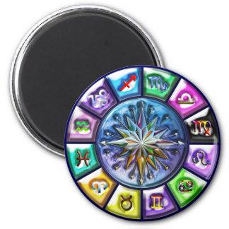 Zodiac signs Print 6 Cm Round Magnet