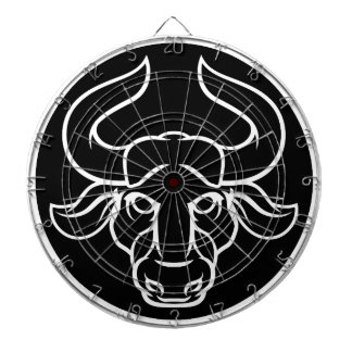 Zodiac Signs Taurus Bull Icon Dartboard